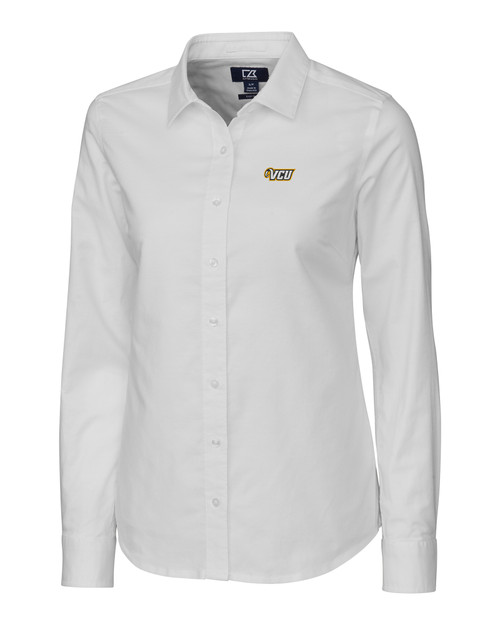 VCU Rams Ladies' Stretch Oxford Shirt WH_MANN_HG 1