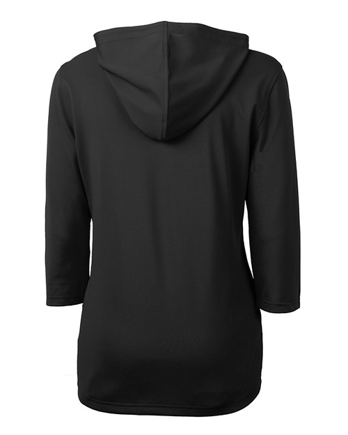 Cutter & Buck Virtue Eco Pique Recycled Half Zip Pullover Womens Hoodie BL_MANNB_HG 1