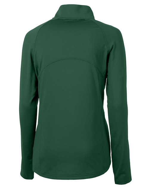 Cutter & Buck Adapt Eco Knit Stretch Recycled Womens Half Zip Pullover HT_MANNB_HG 1