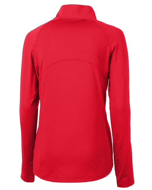 Cutter & Buck Adapt Eco Knit Stretch Recycled Womens Half Zip Pullover RD_MANNB_HG 1
