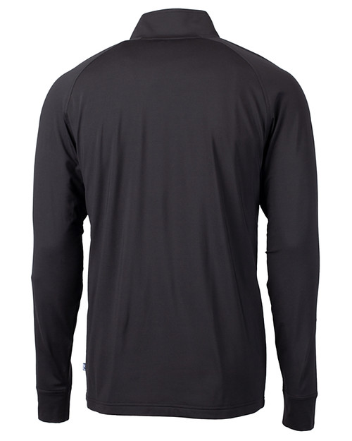 Cutter & Buck Adapt Eco Knit Stretch Recycled Mens Big and Tall Quarter Zip Pullover BL_MANNB_HG 1