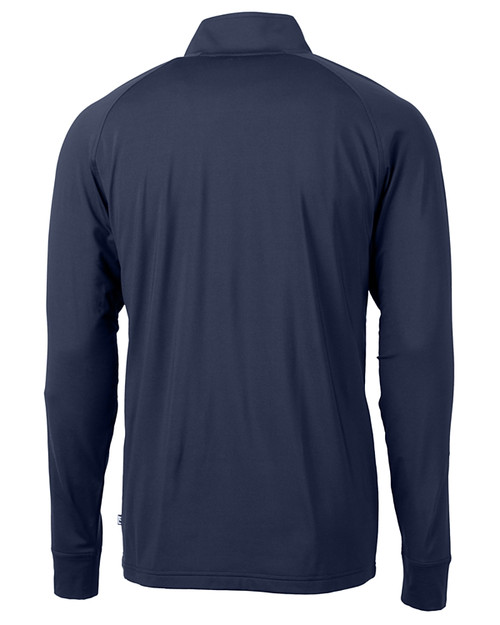 Cutter & Buck Adapt Eco Knit Stretch Recycled Mens Big and Tall Quarter Zip Pullover NVBU_MANNB_HG 1