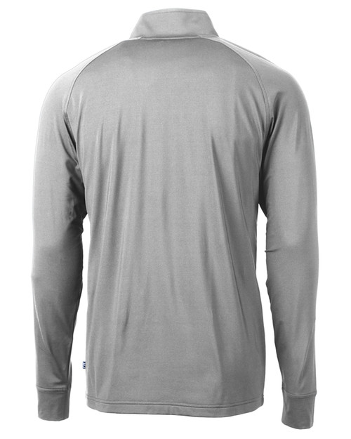 Cutter & Buck Adapt Eco Knit Stretch Recycled Mens Big and Tall Quarter Zip Pullover POL_MANNB_HG 1