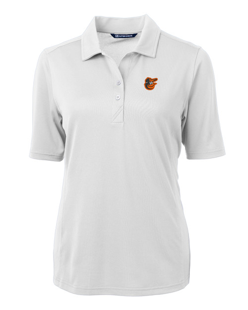 Baltimore Orioles Cutter & Buck Virtue Eco Pique Recycled Womens Polo WH_MANN_HG 1