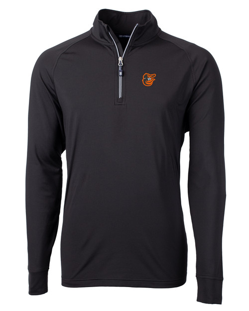 Baltimore Orioles Cutter & Buck Adapt Eco Knit Stretch Recycled Mens Quarter Zip Pullover BL_MANN_HG 1
