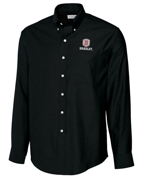 Bradley Braves B&T L/S Epic Easy Care Royal Oxford Shirt 1
