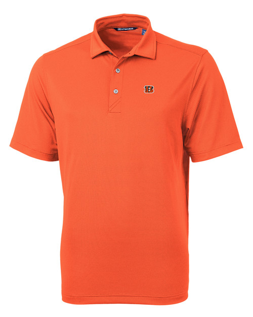Cincinnati Bengals Cutter & Buck Virtue Eco Pique Recycled Mens Big and Tall Polo CLO_MANN_HG 1