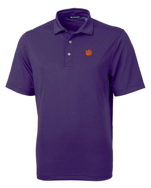 Clemson Tigers Cutter & Buck Virtue Eco Pique Recycled Mens Big and Tall Polo CLP_MANN_HG 1