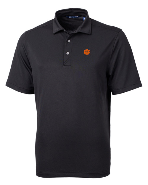 Clemson Tigers Cutter & Buck Virtue Eco Pique Recycled Mens Polo BL_MANN_HG 1