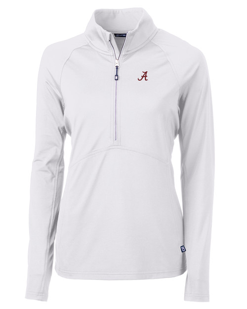 Alabama Crimson Tide Cutter & Buck Adapt Eco Knit Stretch Recycled Womens Half Zip Pullover WH_MANN_HG 1