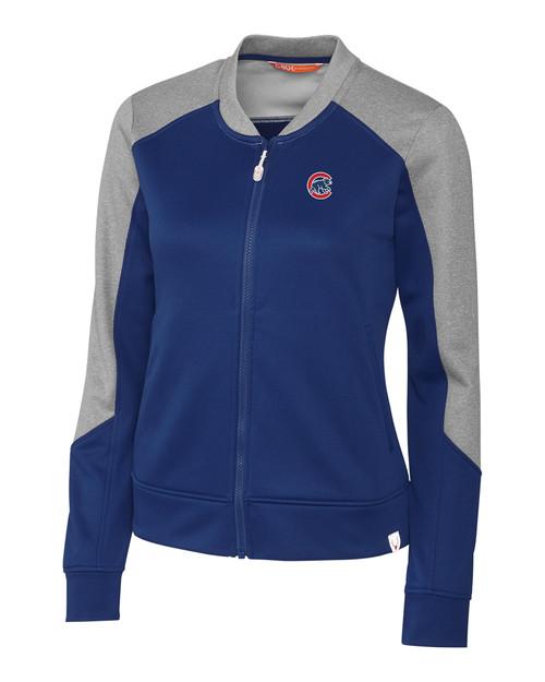 Chicago Cubs CBUK Womens Pop Fly Full Zip TBL_MANN_HG 1