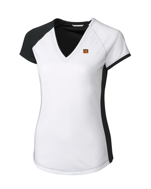 Cincinnati Bengals CBUK Womens Short-Sleeve Presley V Neck BL_MANN_HG 1