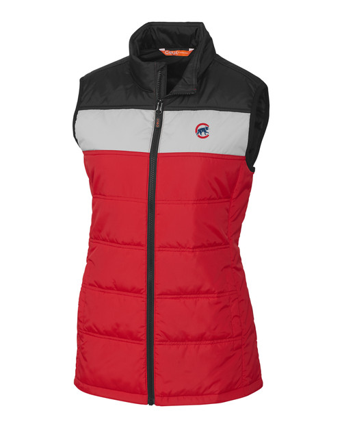 Chicago Cubs CBUK Womens Thaw Insulated Packable Vest RD_MANN_HG 1