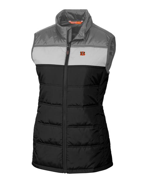 Cincinnati Bengals CBUK Womens Thaw Insulated Packable Vest BL_MANN_HG 1