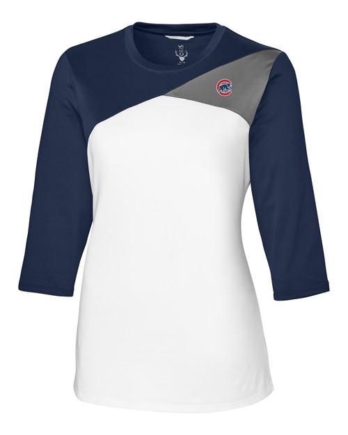 Chicago Cubs CBUK Womens Swift Long Sleeve Colorblock Tee NA_MANN_HG 1