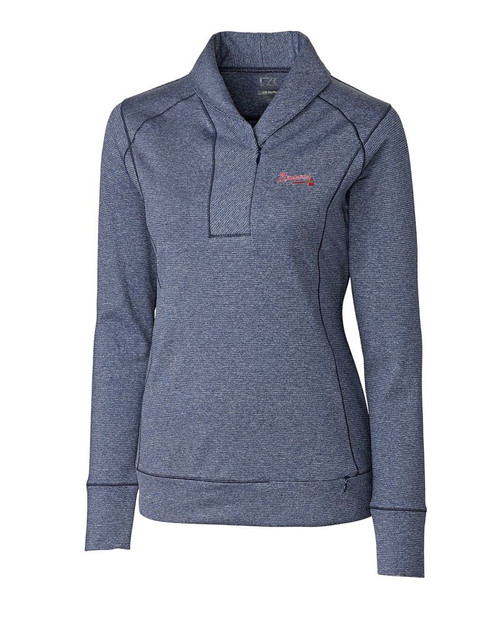 Atlanta Braves Ladies Shoreline Half Zip