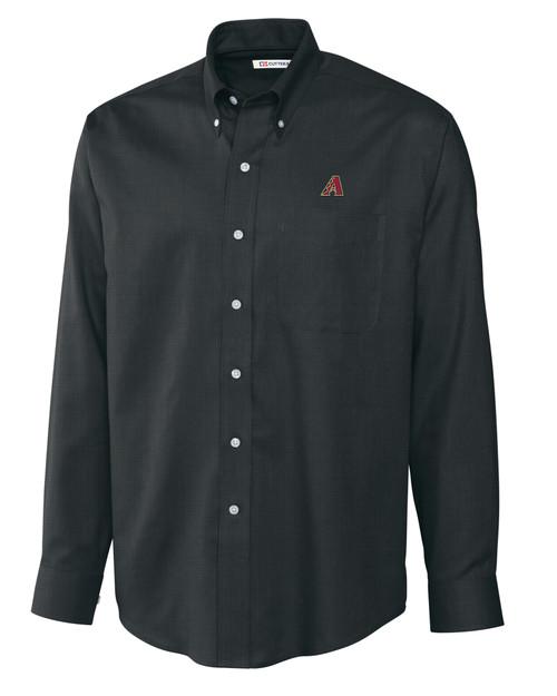 Arizona Diamondbacks Men's L/S Nailshead Woven Shirt
