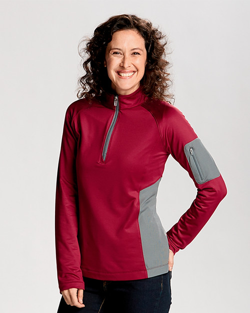 Ladies' Shaw Hybrid Half-Zip 1
