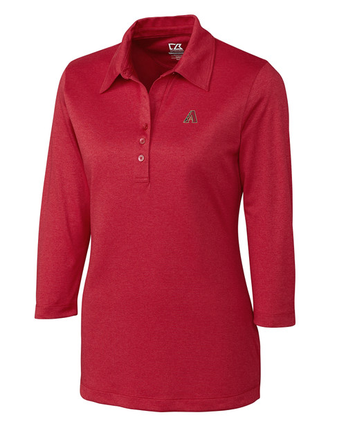 Arizona Diamondbacks Women's CB DryTec 3/4 Sleeve Chelan Polo 1