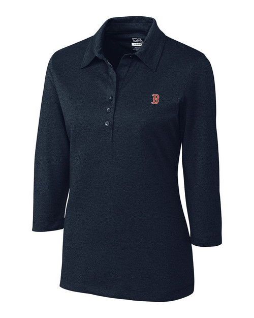Boston Red Sox CB DryTec 3/4 Sleeve Chelan Polo