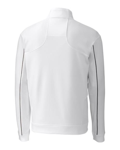 Edge Half Zip in white