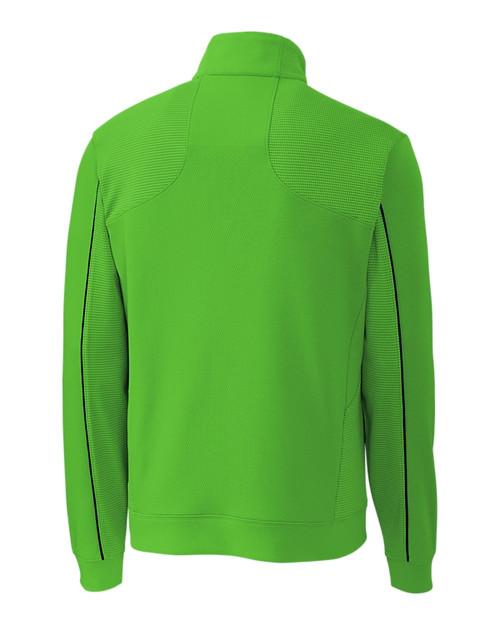Edge Half Zip in light green
