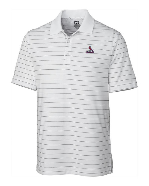 St Louis Cardinals  CB DryTec Franklin Stripe  Polo