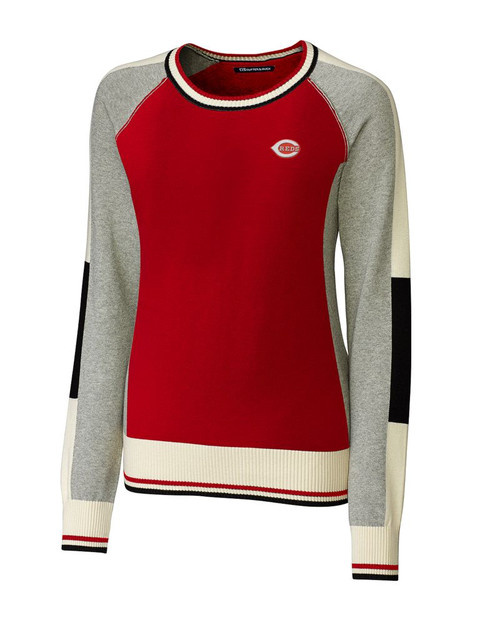 Cincinnati Reds  Ladies Stride Colorblock Sweater