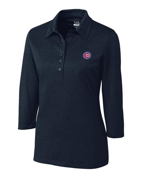 Chicago Cubs  CB DryTec 3/4 Sleeve Chelan Polo