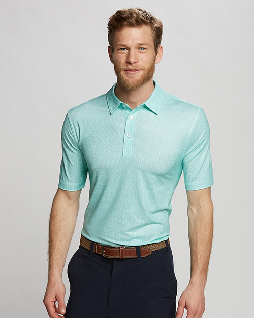The Passage print polo is made to perform while keeping you cool and dry.