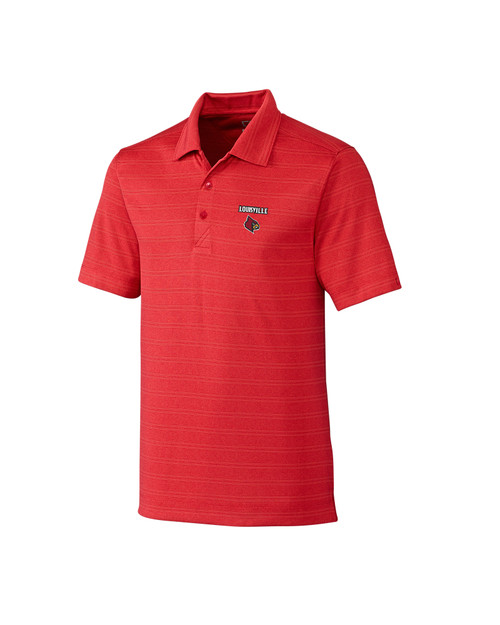 Louisville Cardinals B&T Interbay Melange Stripe Polo