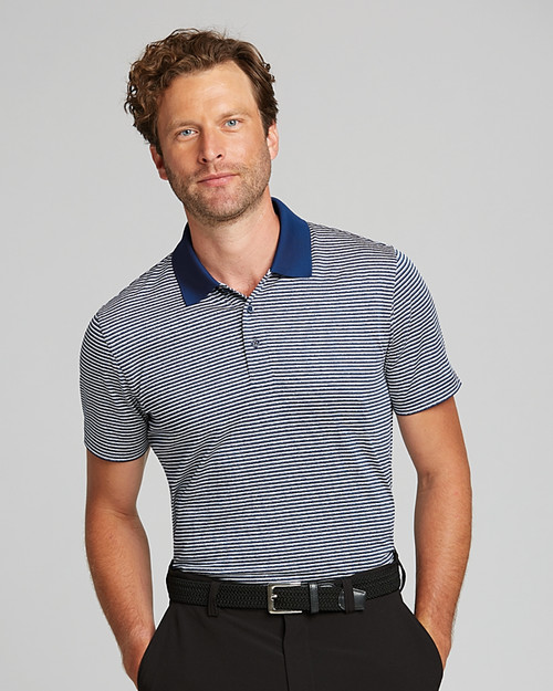 Forge Polo Tonal Stripe Tailored Fit 1