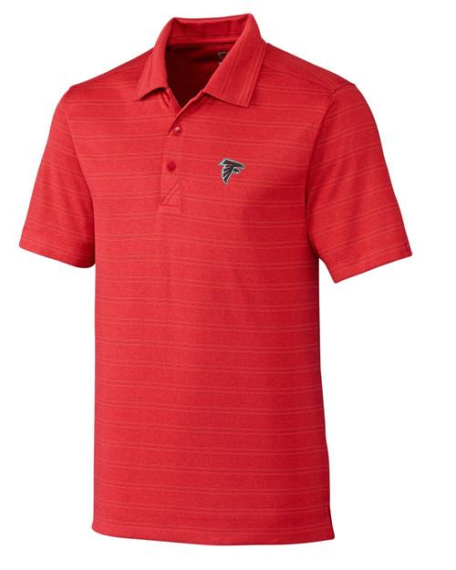 Atlanta Falcons B&T Interbay Melange Stripe Polo