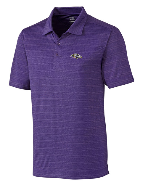 Baltimore Ravens B&T Interbay Melange Stripe Polo