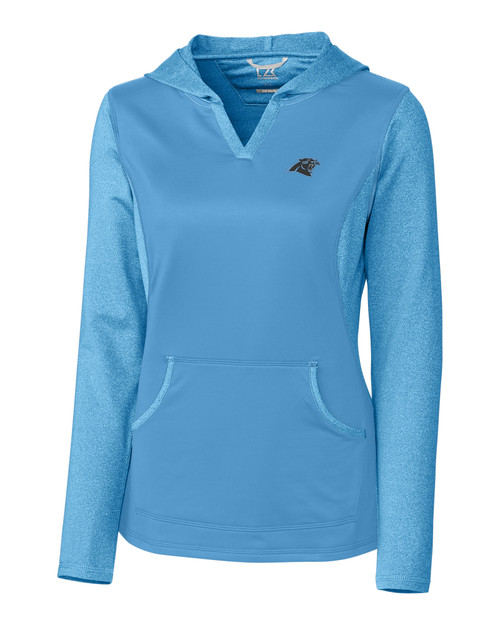 Top Carolina Panthers Ladies' Tackle Hoodie Cutter & Buck  free shipping