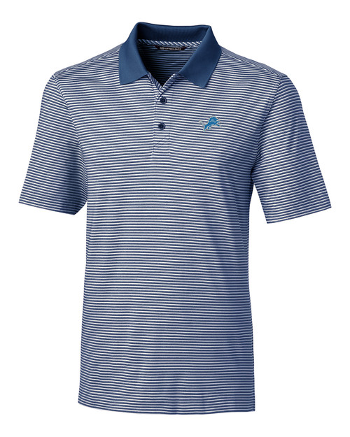 Detroit Lions Big & Tall Forge Polo Tonal Stripe  1