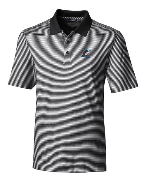Miami Marlins Forge Polo Tonal Stripe