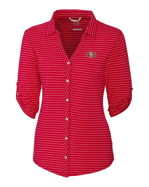 343959d3 ... Cheer Colorblock Tee. $80.00. 10752 LCK00023-17049 San Francisco 49ers  Ladies' Academy Stripe