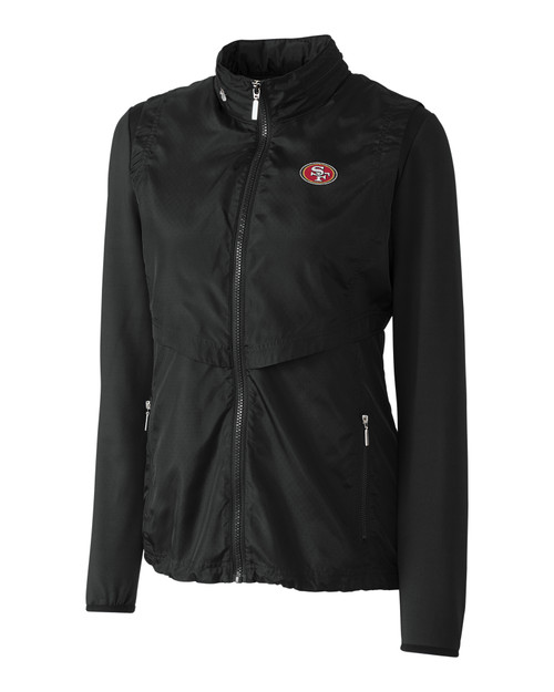 c9b5c2cb 10759 LCO09993-17049 San Francisco 49ers Ladies' Ava Hybrid Full Zip