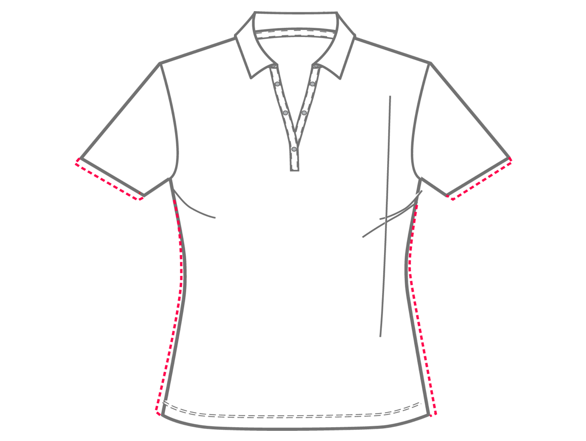 Ladies Relaxed Fit sizing chart