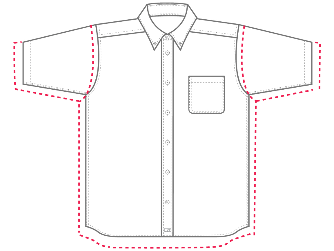Men's Relaxed Fit sizing chart