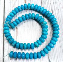 Sleeping Beauty Turquoise- 10mm Rondells SBR10f
