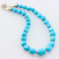 Sleeping Beauty  Necklace w/SS Clasp -SBR6-201