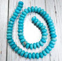 Sleeping Beauty Turquoise- 10mm Rondells SBR10k1