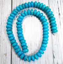 Sleeping Beauty Turquoise-10mm Rondells SBR10m1