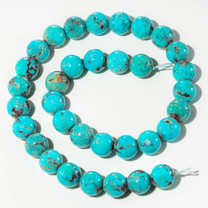 Turquoise Beads 12 MM Rounds