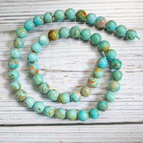 Sonoran Blue Turquoise(Mexico) 8mm Rounds -NTR8b