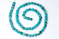 Sonoran  Turquoise Squares- 4mm Side Drilled