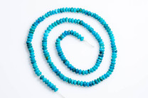 Nacozari  Turquoise Disc & Rondells  3-4mm  NT3a