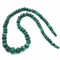 Malachite(Congo) Graduated 7-13mm Round Beads